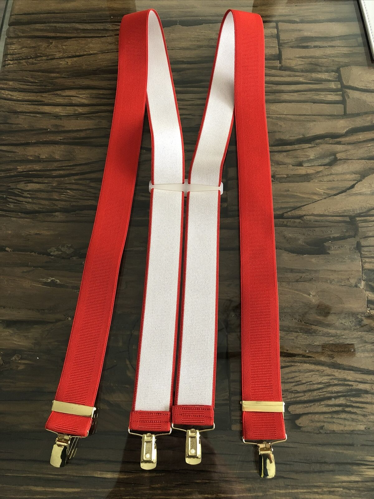 Hunt & Holditch Red Clip On Braces