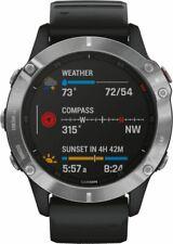 Artikelbild Garmin fenix 6 Schwarz-Silber Smartwatch Sportuhr GPS Pulsmessung 80g
