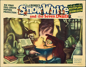 A4 sizes A1 A2 Snow White and the Seven Dwarfs Vintage Movie Poster A3