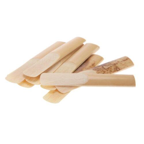 10Pcs Klarinette Zunge Staerkezunge Bambus Fuer Klarinette Zubehoe P4O6