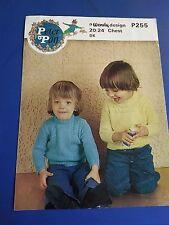 Peter Pan Children's Sweater Knitting Pattern P255
