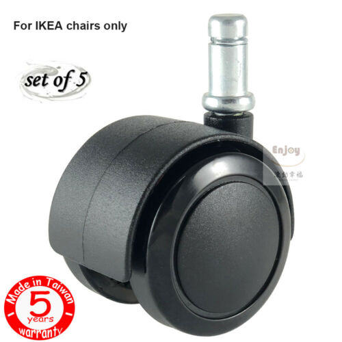 Stem Fit IKEA Chair ENJOY Office Chair Replacement wheels Caster with 3//8 10mm