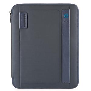 Piquadro-Stationery-Porta-blocco-A4-chiusura-zip-tessuto-blu-PB2830P16