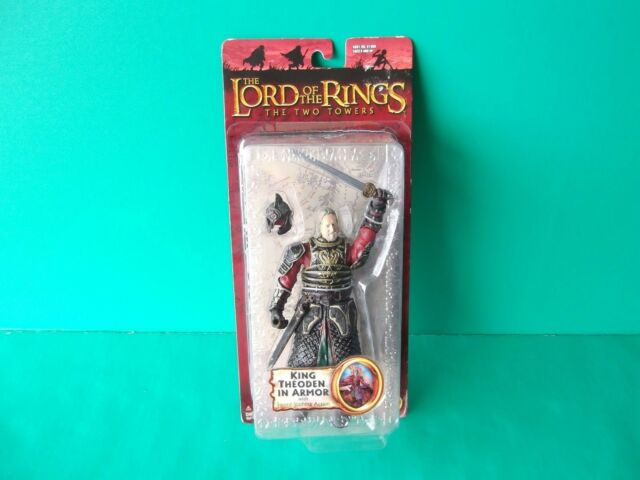Lord of the Rings The Two Towers KING THEODEN IN ARMOR Sword Slashing Action MOC