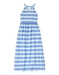 NWT Gymboree colorful Striped Maxi Dress Girls Spring Vacation size S 5 6
