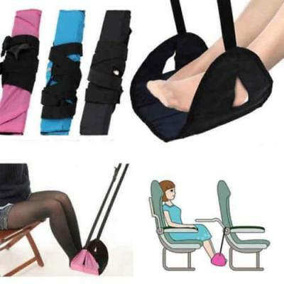 Perfect for Reducing Travel Fatigue,Black Airplane Footrest-Ergonomic Design Adjustable Height Portable Travelling Foot Hammock Suitable for Airplane-Office
