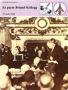 FICHE-CARD-Le-pacte-Briand-Kellogg-pacte-de-Paris-27-Aout-1928-France-90s