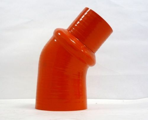 """3.5/"""" Red OBX 45 Degree Silicone Reducer Hump Elbow 2/"""""""