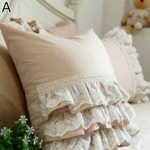 Cushion-Cover-Throw-Pillow-Case-Ruffle-Lace-Country-Floral-Sofa-Bed-Home-Decor