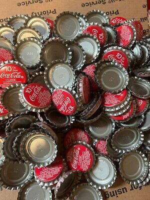 Coke RED BOTTLE CAPS..125-130 Pieces PLASTIC LINED  NEVER Used 1lb Of 10 oz