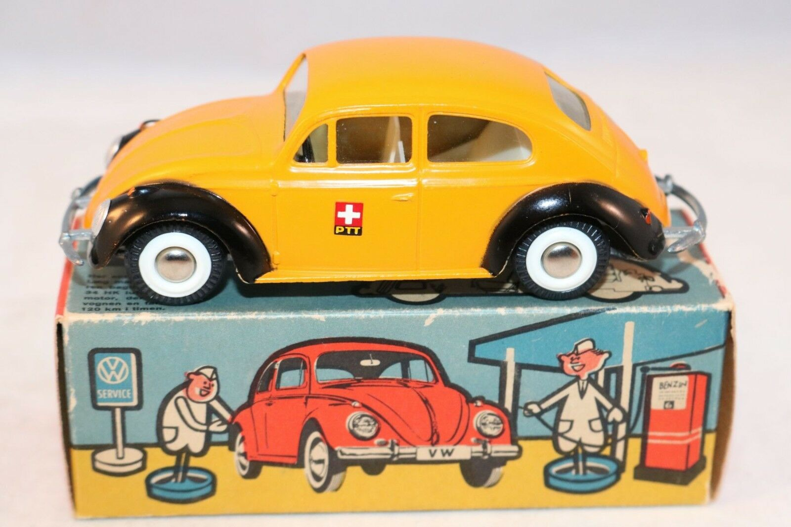 Tekno Denmark 819 Volkswagen Kafer PTT blancoo wall tyres perfect mint in box