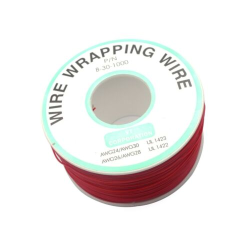 Sydien Copper Wire Wrapping Tin Plated PVC Coated Wire 30AWG Cable 255m//836.6...