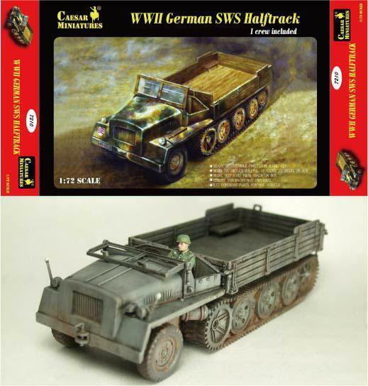 Caesar Miniatures - H7210 - WWII German SWS Halftrack - 1:72