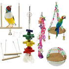 Handmade Bird Parrot Swing Cage Toy Parakeet Cockatiel Stand Perches Chew Toy