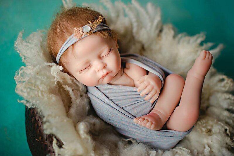 21  vivo Reborn Bebé Suave Silicona Muñeca de Juguete de Niño Niña Dormir Niño Regalos Reino Unido