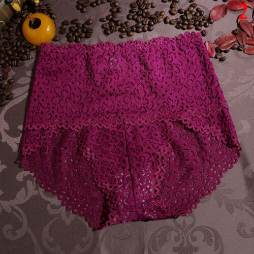 Damen High Waist Lace Underwear Briefs Panties Knickers Tummy Control ShapeR#HOT