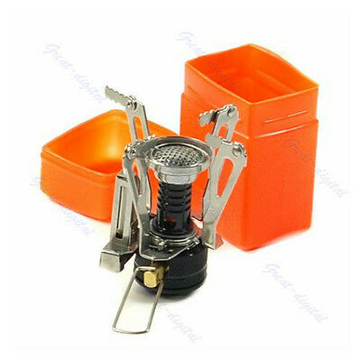 New Foldable Camping Mini Steel Stove Case Portable Outdoor Picnic Gas Burner