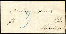 BADEN PORTO 1862 2y auf BRIEF ALTES ATTEST (S7947