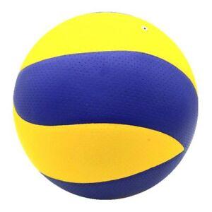 Balon-Voleibol-Suave-Al-Tacto-Size5-Amarillo-Azul-Cuero-Sintetico-Entrenamiento