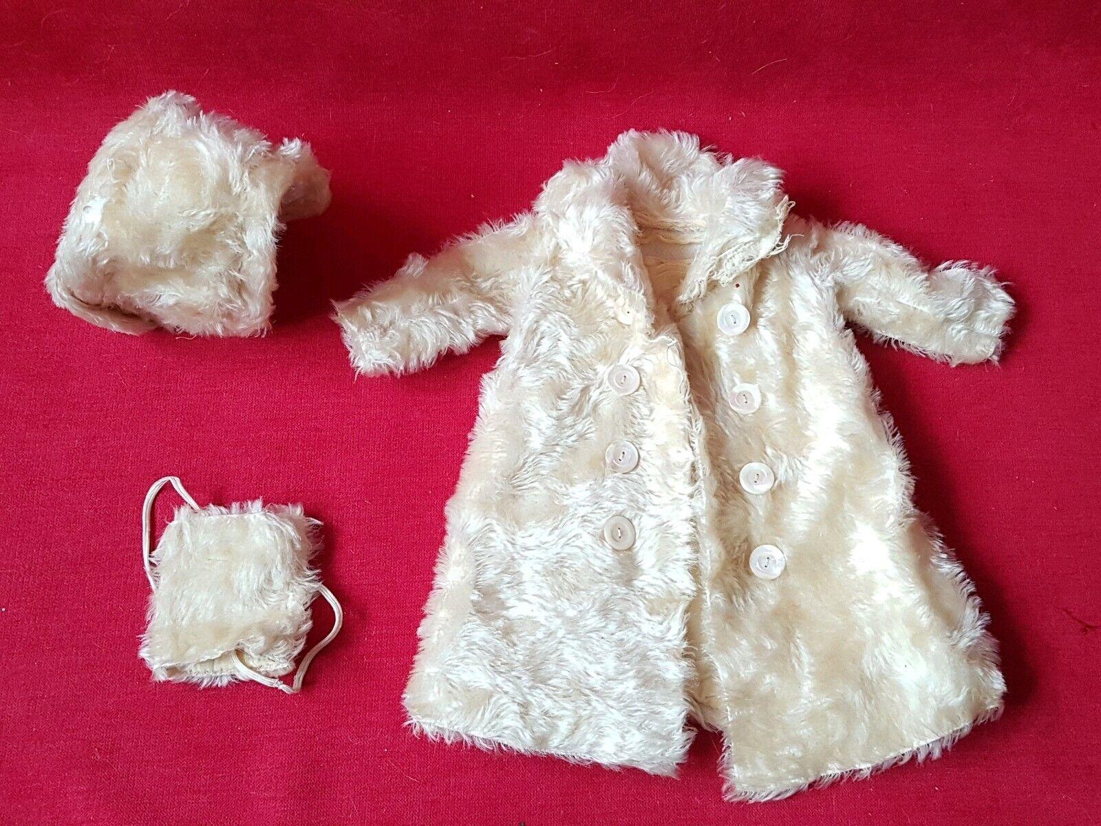 1890 - Vêtement pour Poupée SFBJ   Jumeau   Bébé Bru Talla 10 Manteau fourrure