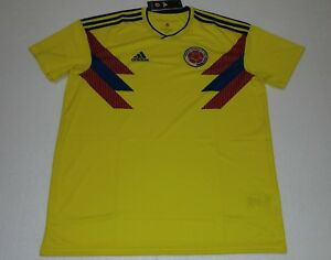 3c90eab724c 2018 SELECCION COLOMBIA HOME ADIDAS M XL WORLD CUP JERSEY JAMES ...