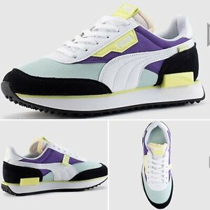 Puma-Future-Rider-034-vert-d-039-eau-VIOLET-034-Junior-Baskets-UK-4-Limited-Edition