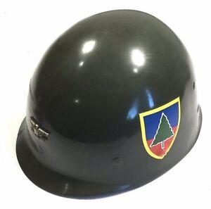 ORIGINAL1952 US ARMY 91st Inf. Div. POWDER RIVER Colonel M1 Combat HELMET LINER