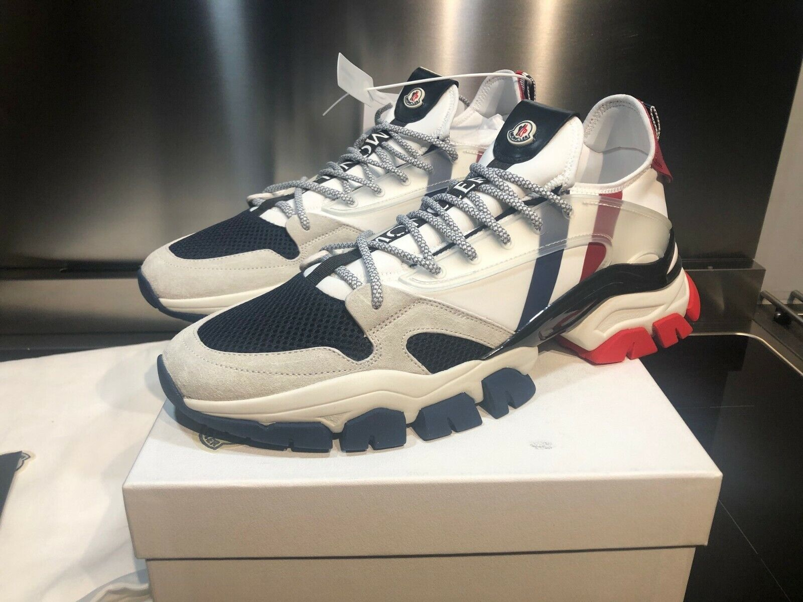 Moncler Trevor White Low Top Sneakers New