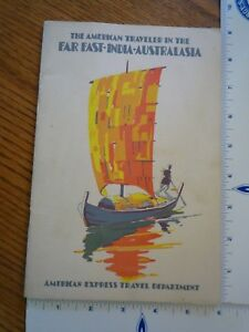 Details about Vintage 1930 American Express Far East India Australasia  Cruise Tour Itineraries