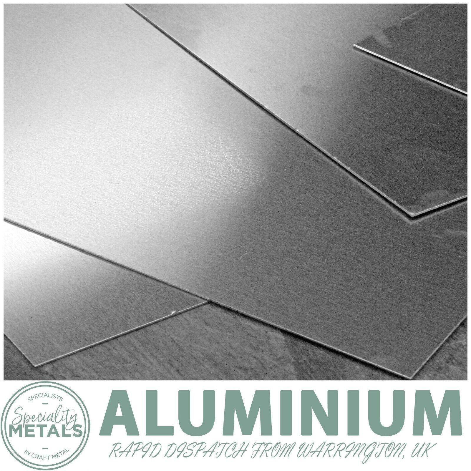 0.5mm to 2.5mm Aluminium Sheet Metal Plate 1050 H14 Grade UK Made Guillotine Cut