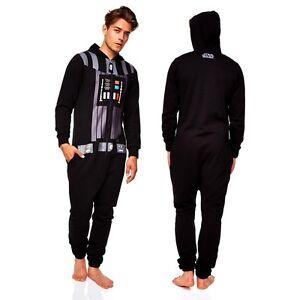 darth vader onesie star wars jumpsuit mens vadar onsie onesy onezie onezee ebay. Black Bedroom Furniture Sets. Home Design Ideas