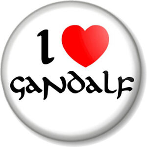 I-Love-Heart-GANDALF-1-034-Pin-Button-Badge-The-Hobbit-Lord-Of-Rings-JRR-Tolkein
