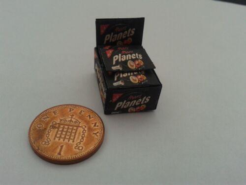 Boîte de Mars planètes Bars bonbons pour dollshouse miniatures Échelle 1//12
