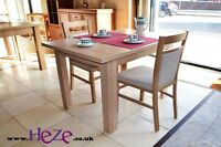 Extending dining table, light oak, dark oak and white colours, perfect size