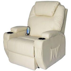 Poltrone Relax Tv.Dettagli Su Homcom Poltrona Relax Massaggio Reclinabile A 8 Punti Poltrona Tv Siscaldame