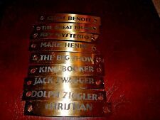 WWE World Heavyweight Championship Belt Name Plates - Lot of 9 (#M144)