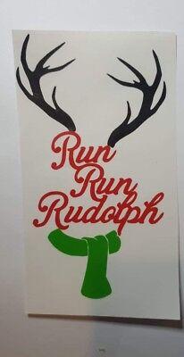 3 Run Run Rudolph XMAS Vinyl Decal Stickers