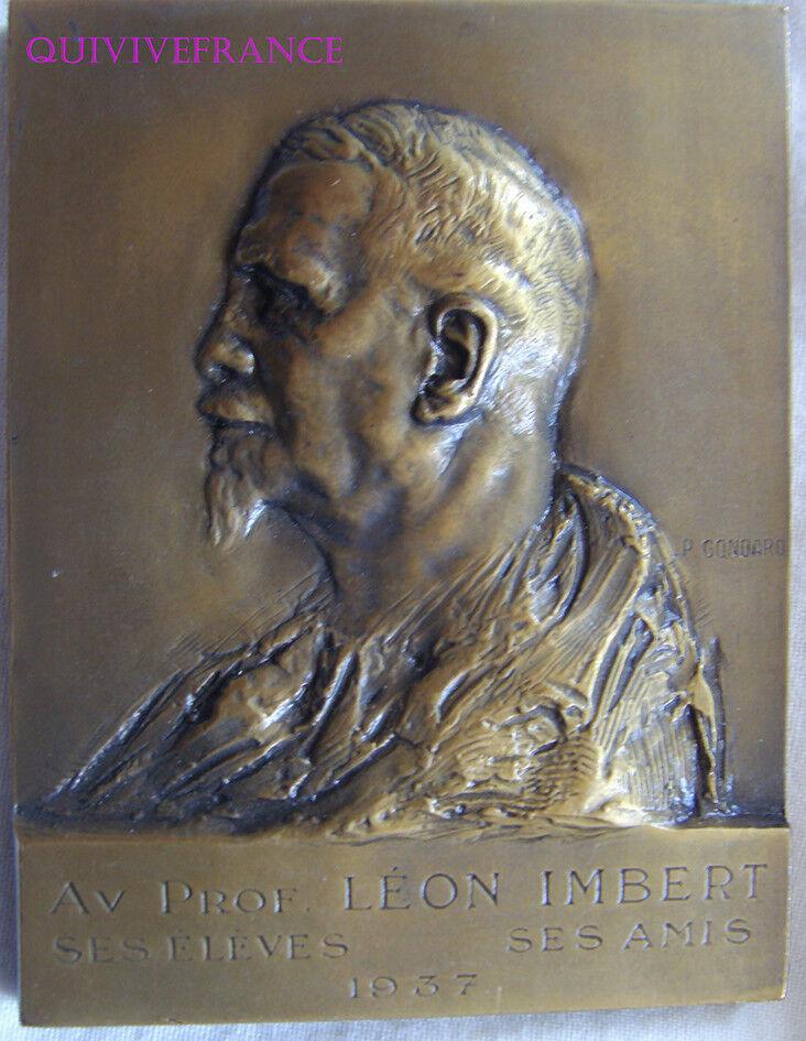 MED6840 - MEDAILLE PROF. LEON IMBERT IMBERT IMBERT MEDECINE MARSEILLE 1937 par GONDARD 92cfb8