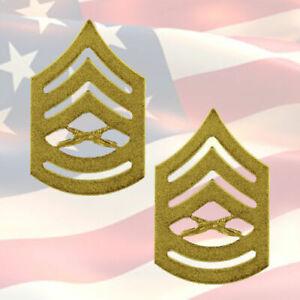 U-S-M-C-MASTER-SERGEANT-CHEVRONS-PAIR-22K-GOLD-PLATED-COMBAT-OR-8