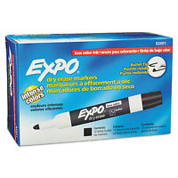 Expo Low Odor Dry Erase Marker Bullet Tip Black Dozen 82001 on sale