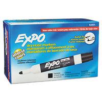 Expo Low Odor Dry Erase Marker Bullet Tip Black Dozen 82001 on sale