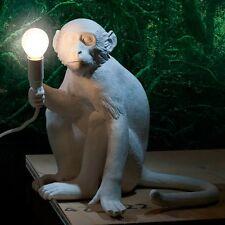 Seletti scimmia seduta Lampada Da Tavolo Bianco Resina Moderno Lampada da tavolo tra cui LED