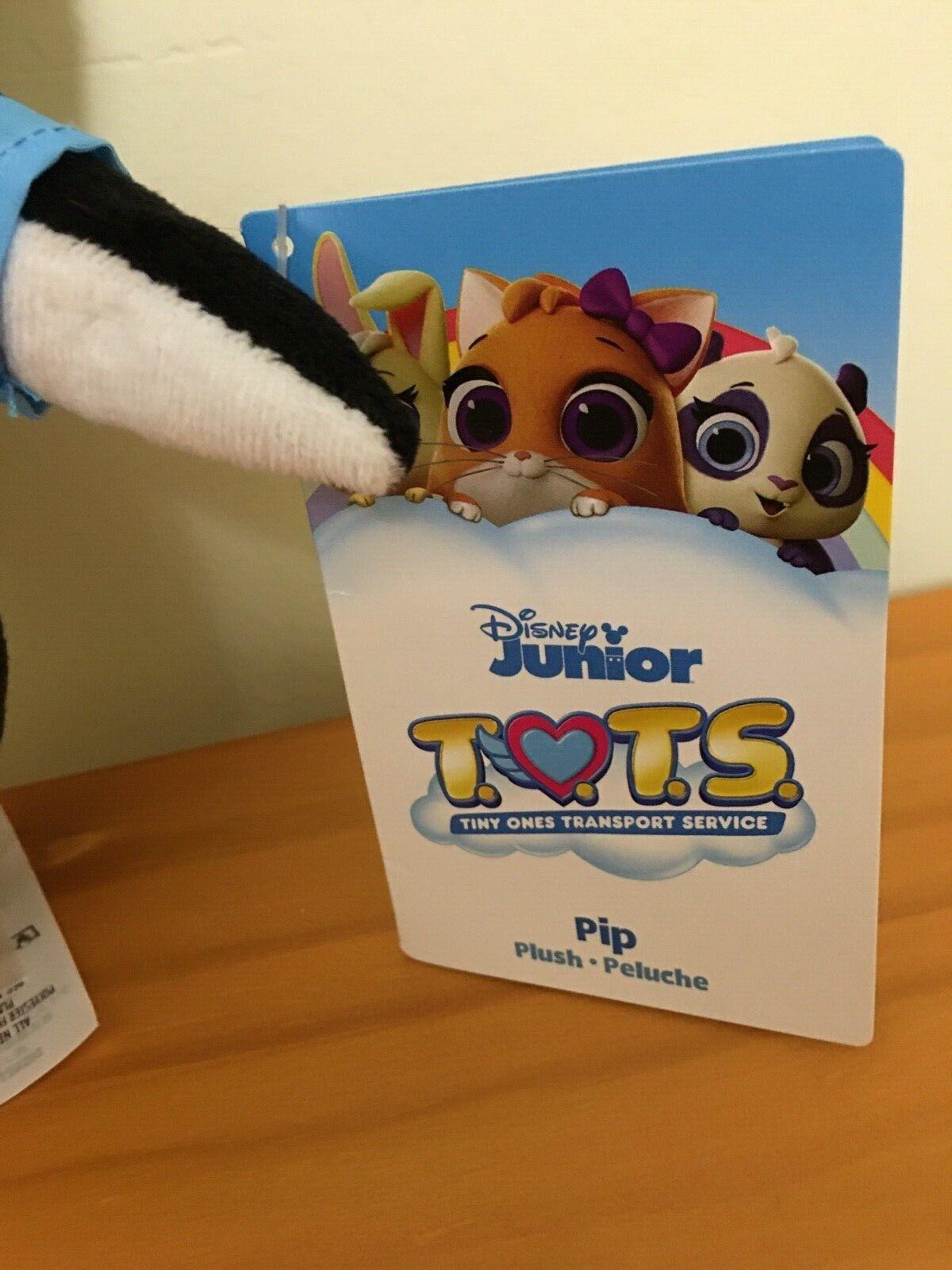"""NEW Disney Store Junior T.O.T.S PIP Penguin 9"""" Plush Tots Tiny Ones Transport"""