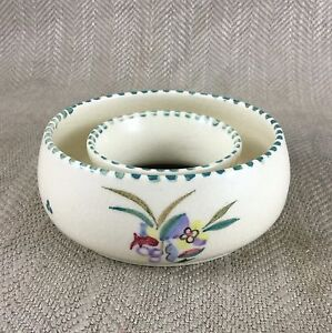 Poole-Pottery-Ring-Bowl-Dish-Hand-Painted-Signed-Vintage-Unusual-Shape