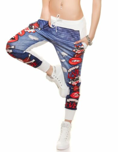 Ladies Pants Funky Print Sport Trousers Running Fitness Gym Joggers