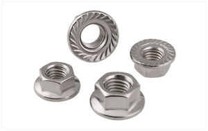HEXAGONAL FLANGE SERRATED NUTS A2 STAINLESS STEEL DIN6923 M5 M6