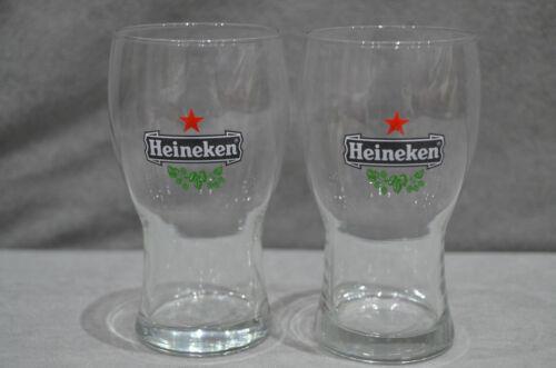 Pair Of Heineken 2//3 Pint 12oz To Brim Beer Glasses Netherlands 1989 Glass 2