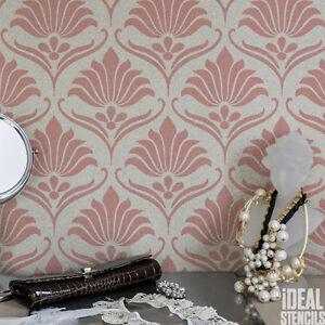 klassisch jugendstil schablone blumen muster wohndeko tapete handwerk dekor ebay. Black Bedroom Furniture Sets. Home Design Ideas