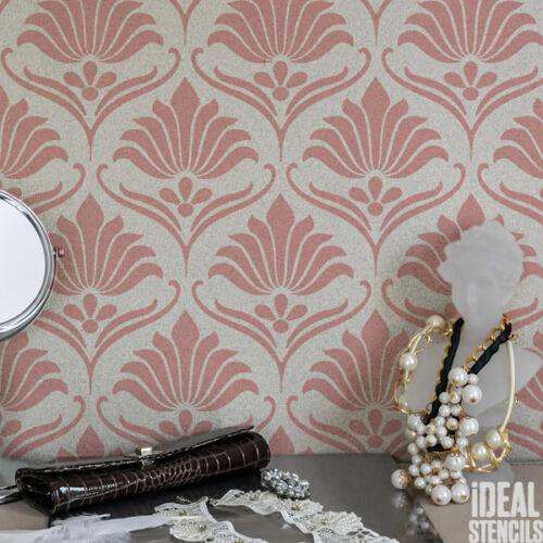 Classic Art Nouveau STENCIL Floral Pattern Home Decor Wallpaper Craft decor