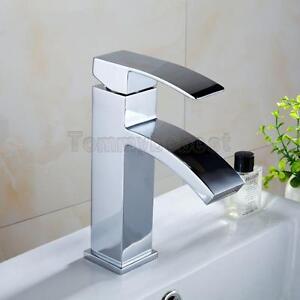 Miscelatore monocomando a cascata cromata rubinetto lavabo bagno moderno ebay - Miscelatore bagno moderno ...
